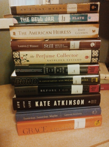 This stack of books may take up too much space in the suitcase.